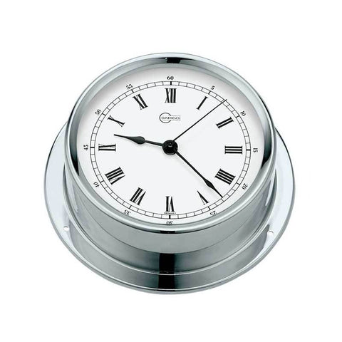 Tempo Chrome Ship's Quartz Clock - Trintec Industries Inc.