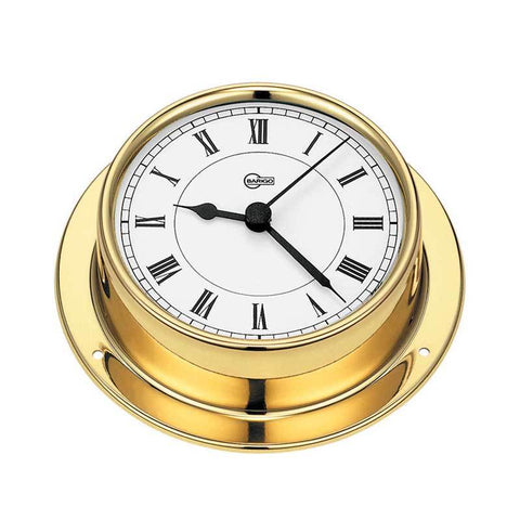Tempo Brass Ship's Quartz Clock - Trintec Industries Inc.