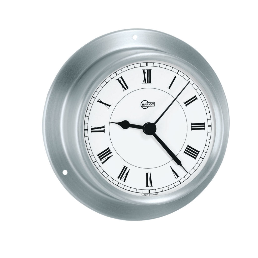 Tempo Chromed Brass Ship's Quartz Clock