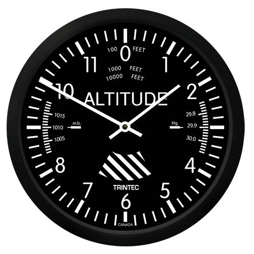 "10"" Classic Altimeter Round Clock - Trintec Industries Inc."