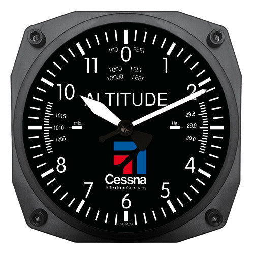"6"" Cessna Altimeter Instrument Style Clock"