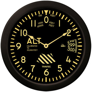 "14"" Vintage Altimeter Clock - Trintec Industries Inc."