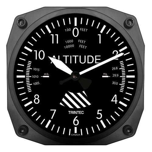 "6"" Altimeter Instrument Style Clock"