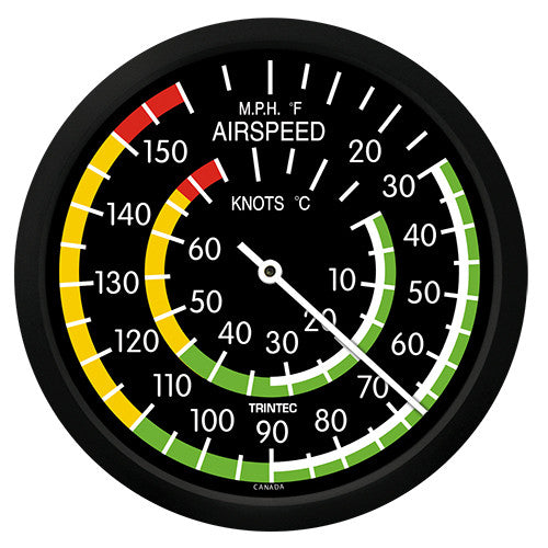 "10"" Classic Airspeed Thermometer - Trintec Industries Inc."