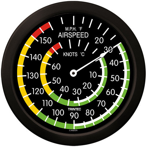 "14"" Classic Airspeed Thermometer - Trintec Industries Inc."