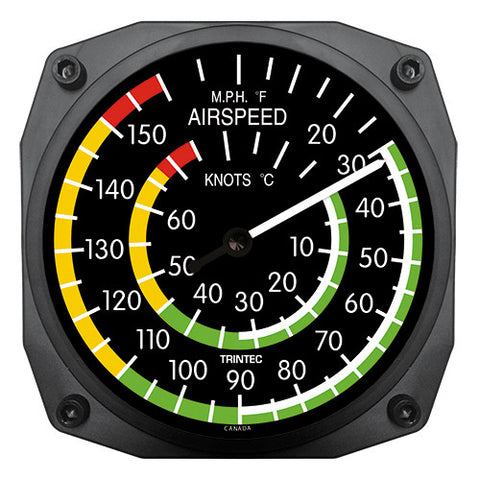 "6"" Airspeed Instrument Style Thermometer - Trintec Industries Inc."
