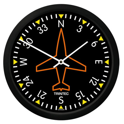 "10"" Classic Directional Gyro Round Clock - Trintec Industries Inc."
