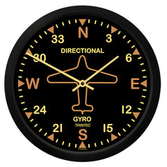 "10"" Vintage Directional Gyro Round Clock"