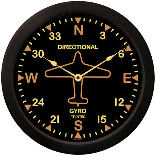 "14"" Vintage Directional Gyro Clock"