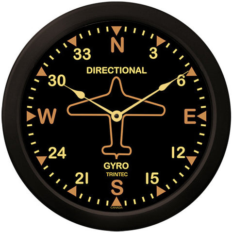 "14"" Vintage Directional Gyro Clock - Trintec Industries Inc."