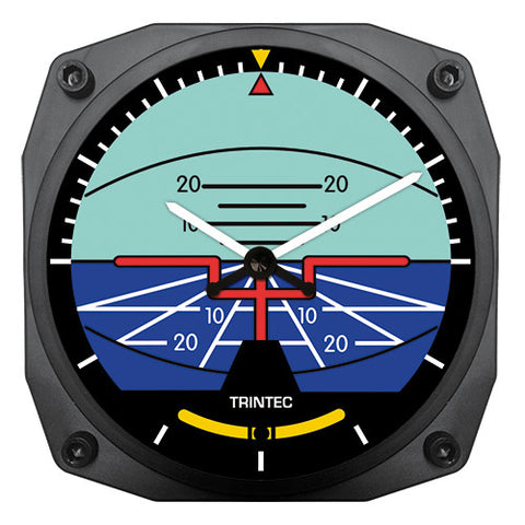 "6"" Artificial Horizon Instrument Style Clock - Trintec Industries Inc."