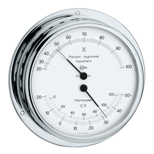 Modern Home Chromed Brass Hygrometer/Thermometer