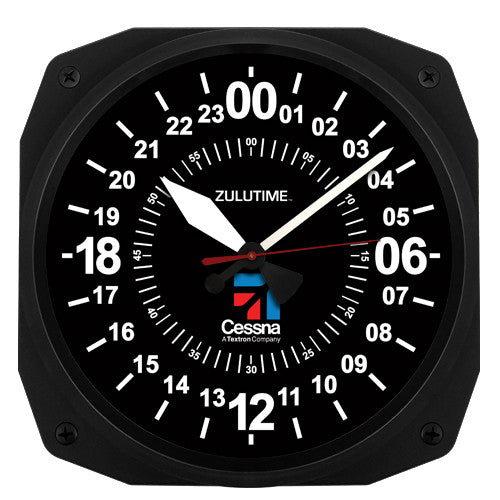 "10"" Cessna Instrument Style 24-Hour Clock (NEW)"