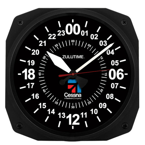 "10"" Cessna Instrument Style 24-Hour Clock"