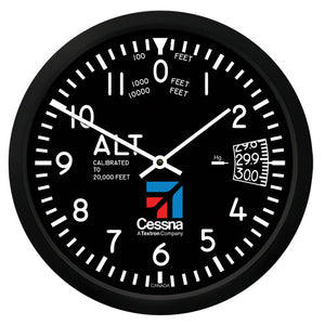 "10"" Cessna Altimeter Round Clock - Trintec Industries Inc."
