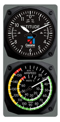 Cessna Altimeter/Airspeed Clock & Thermometer Set