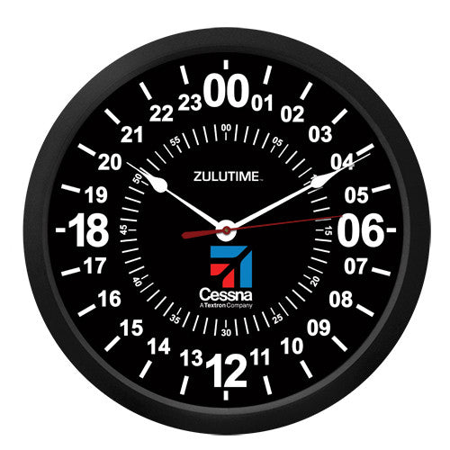 "10"" Cessna 24-Hour Clock - Trintec Industries Inc."