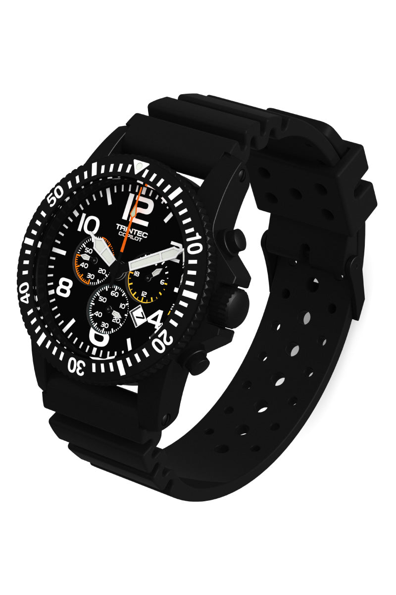 CoPilot Chronograph - Black - Angle