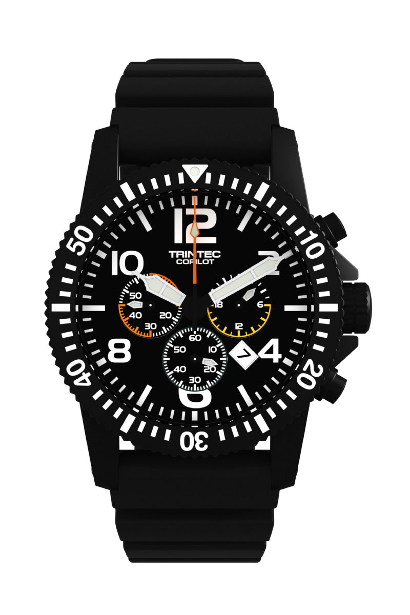 CoPilot Chronograph - Black - Front