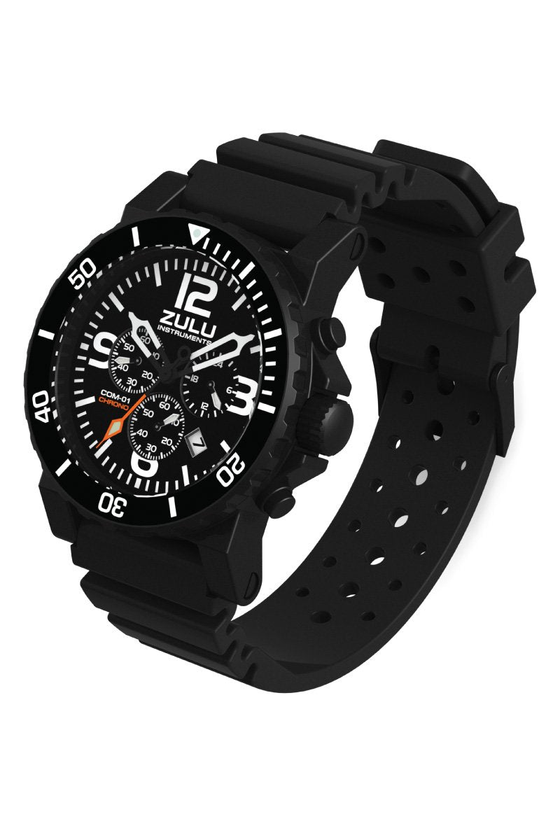 COM-01 Chronograph - Black - Perspective