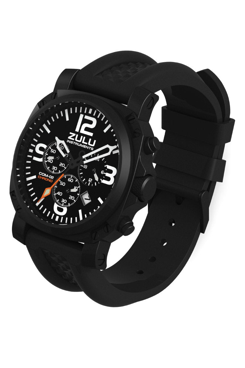 COM-02 Chronograph - Black - Perspective