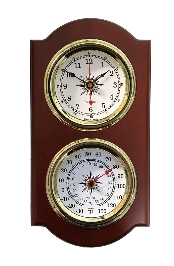 Euro Nautical 2-Piece Weather Station - Clock/Thermo - Trintec Industries Inc.
