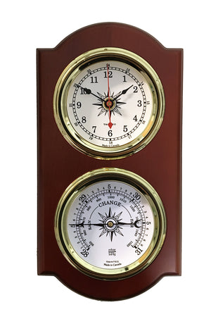 Euro Nautical 2-Piece Weather Station - Clock/Baro - Trintec Industries Inc.