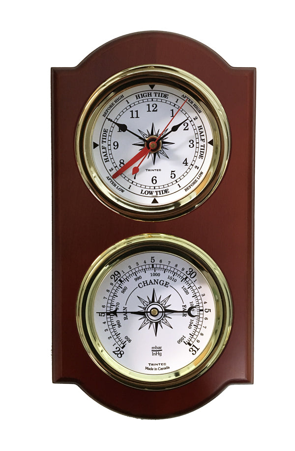 Euro Nautical 2-Piece Weather Station -Time & Tide Clock/Baro - Trintec Industries Inc.