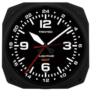 "10"" FLIGHTIME™ GMT Dual Time Clock - Trintec Industries Inc."