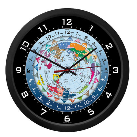 "10"" World Time Clock - Trintec Industries Inc."