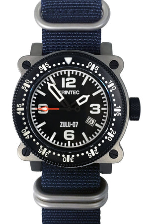 ZULU-07 PRO / Stainless/Blue / Automatic - Trintec Industries Inc.