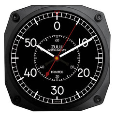 "ZULU Instruments Flight Chronograph 6"" Clock"