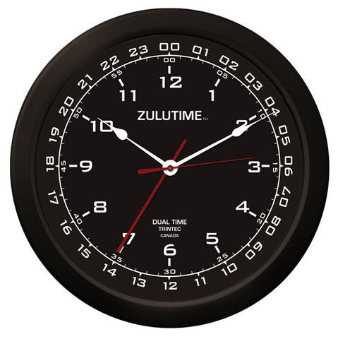 "14"" ZULUTIME™ Dual Time Clock - Trintec Industries Inc."