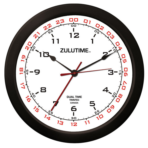 "14"" ZULUTIME™ Dual Time Clock"