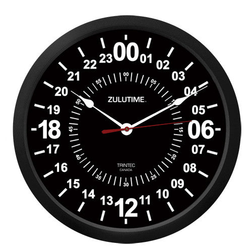 "10"" ZULUTIME™ 24-Hour Clock"