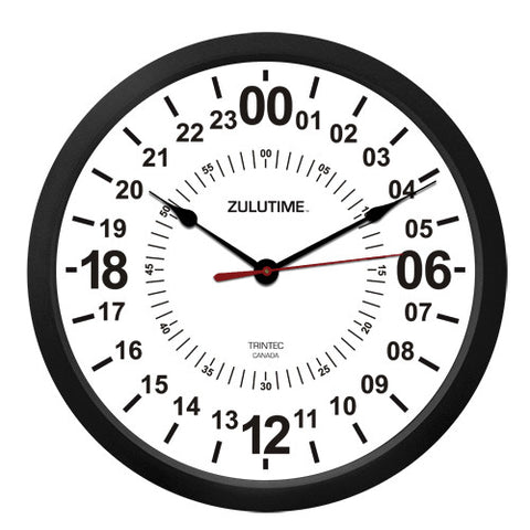 "10"" ZULUTIME™ 24-Hour Clock - Trintec Industries Inc."