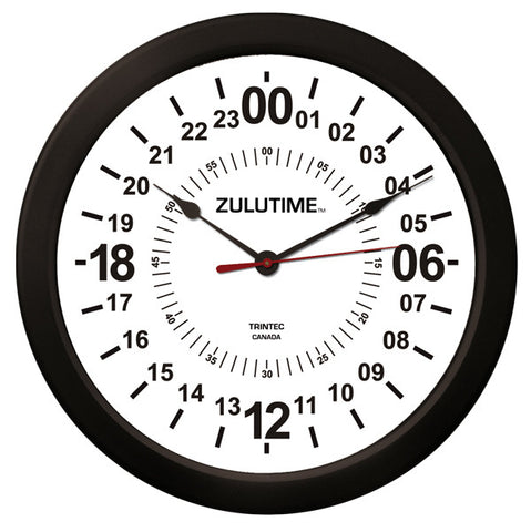 "14"" ZULUTIME™ 24-Hour Clock - Trintec Industries Inc."