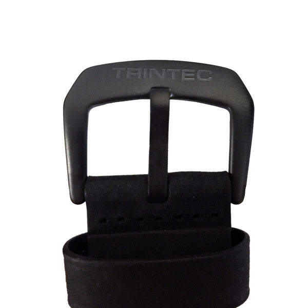 Black Genuine Leather Watch Strap (22 MM Only) - Trintec Industries Inc.
