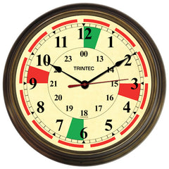 "14"" Antique Brass Post-War Radio Sector Clock - Trintec Industries Inc."