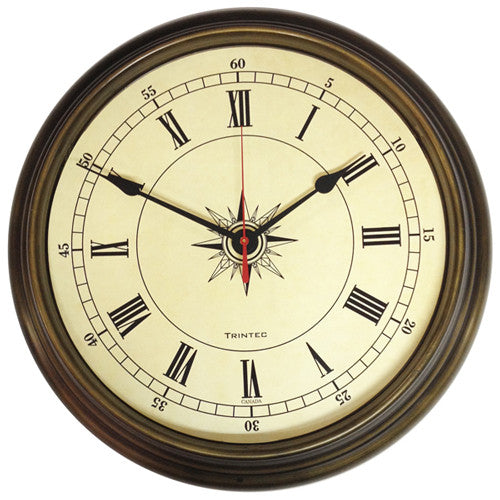 Compass Quartz Clock