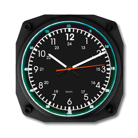 "6"" Emergency Vehicle Clock with Luminescent Light"