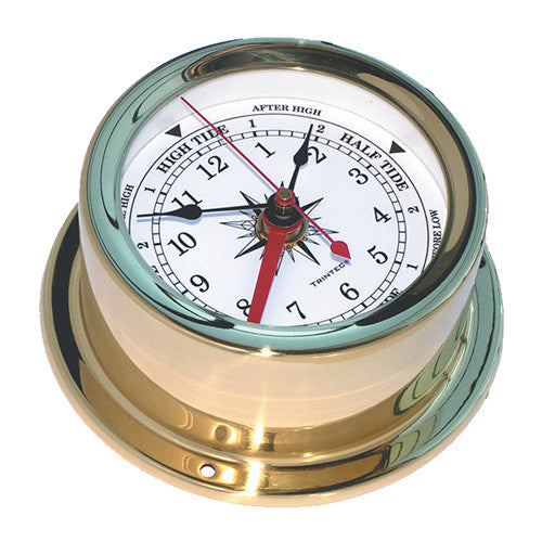 Euro Brass Ship's Time & Tide Clock - Trintec Industries Inc.