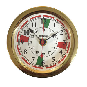 Euro Brass Radio Sector Ship's Clock - Trintec Industries Inc.