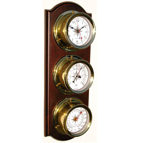 Euro Nautical 3 Piece Weather Station Clock Baro Thermo Trintec