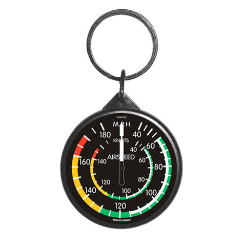 "2"" Classic Airspeed Round Keychain - Trintec Industries Inc."