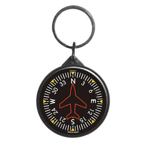 "2"" Classic Directional Gyro Round Keychain - Trintec Industries Inc."