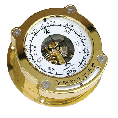 Odyssey Brass Ship's Barometer w/ Inclinometer - Trintec Industries Inc.