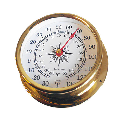 Omni Brass Ship's Thermometer - Trintec Industries Inc.