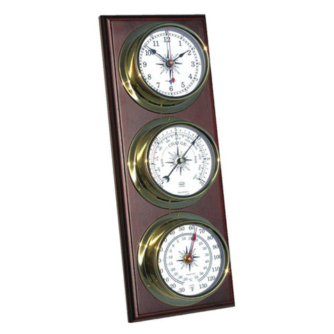 Omni Nautical 3-Piece Weather Station - Clock/Baro/Thermo - Trintec Industries Inc.