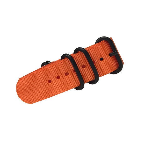 Orange Military Style Watch Strap